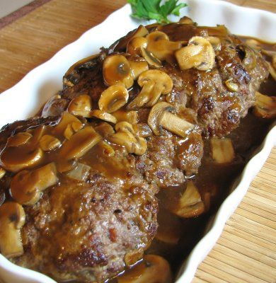 Salsbury Steak with Mushroom Gravy. Made this tonight for my love and it was great!!