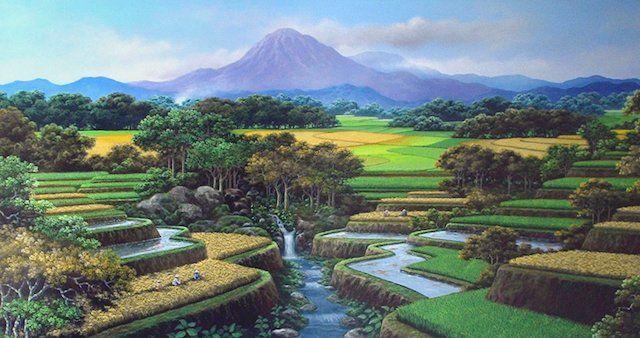 Permainya Desaku  Padi mulai menguning..  Mentari menyambut datangya pagi...  Ayam berkokok bersahutan...  Petani bersiap hendak kesawah...  Padi yang hijau...  Siap untuk di panen...  Petani bersukaria...  Beramai-ramai memotong padi...  Gemercik air sungai...  Begitu beningnya...   #Alama #Desa #Keindahan Alam