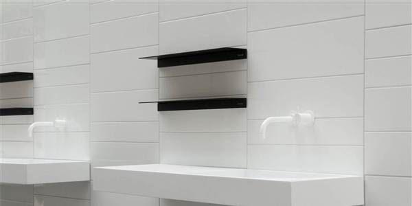 Gloss and Matt White Wall Tile 30x60cm