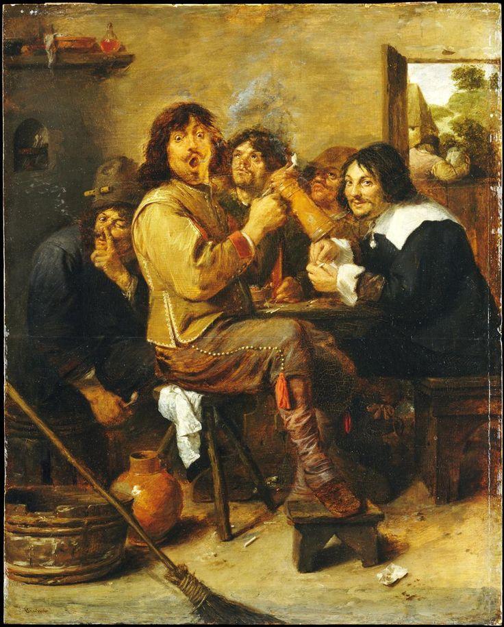 The Smokers, 1636 - Adriaen Brouwer
