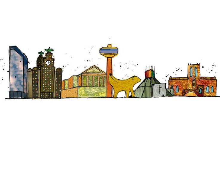 Liverpool Skyline Collage #liverpool #scouse
