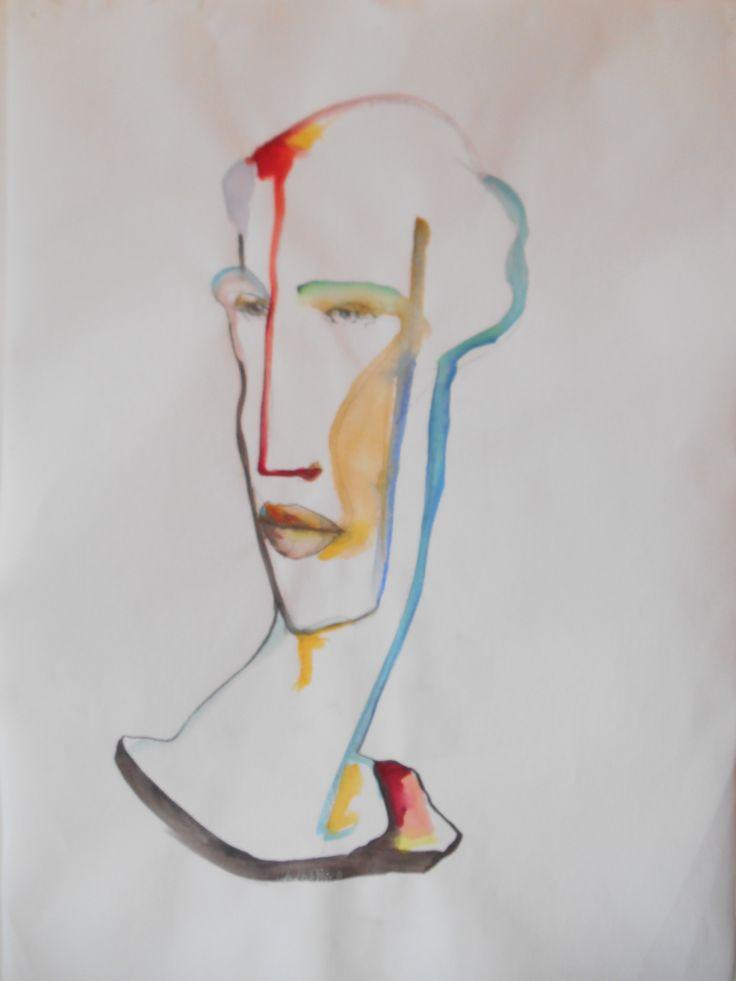 Dipinto su tela, tecnica mista acquerelli e acrilici, di Maurizio Scorza (2016), in vendita su ETSY https://www.etsy.com/shop/ScorzaArte