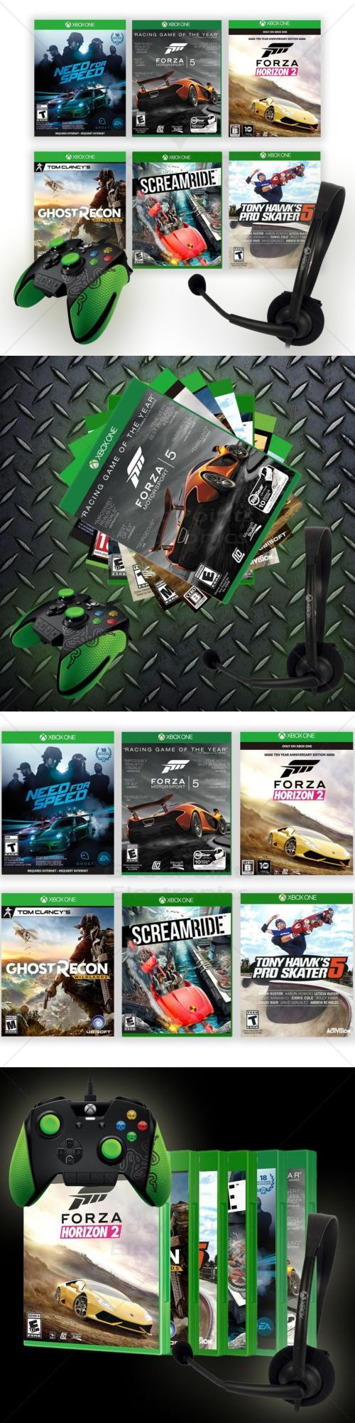 Controllers and Motion Sensors: Xbox One Deal! Microsoft Headset, Razer Wildcat Controller And Xbox One Games! -> BUY IT NOW ONLY: $85 on eBay!