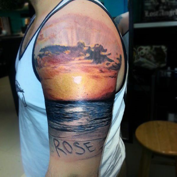 72 best tattoo ideas images on pinterest tattoo ideas for Beach sunset tattoos