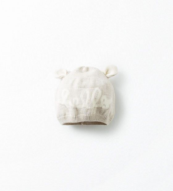 """Image 1 of """"HELLO"""" HAT WITH EARS from Zara"""