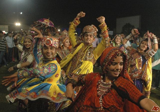 Garba dance during Navratri festivities in Ahmadabad