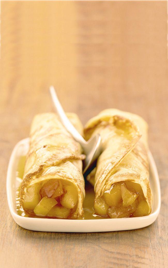 Crêpes aux pommes #recette #dessert #crêpe #pomme #facile