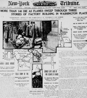 While worker deaths were (unfortunately) very common at the time, the Triangle fire. Triangle Shirtwaist ...