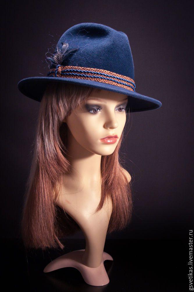 Купить Фетровая шляпка Федора - шляпа, женская кепка, женская шляпка, велюровая шляпка