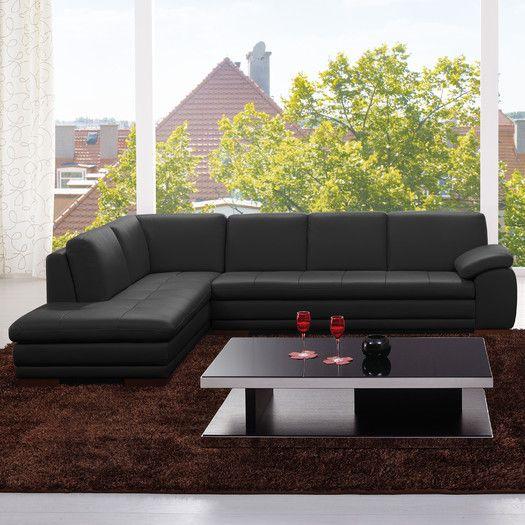 J&M Furniture Leather Sectional | AllModern