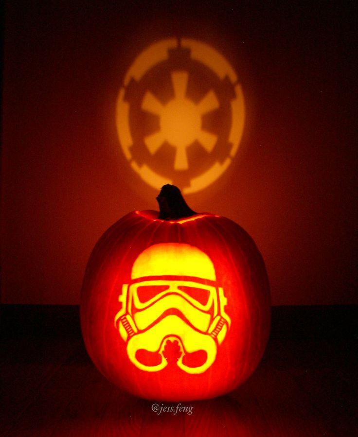 My Stormtrooper pumpkin - Imgur