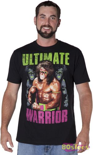 This Ultimate Warrior shirt features an image of the former WWF Heavy Weight Champion.