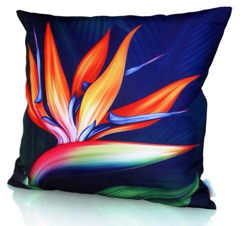 Bird of Paradise cushion cover. Sunburst outdoor living.
