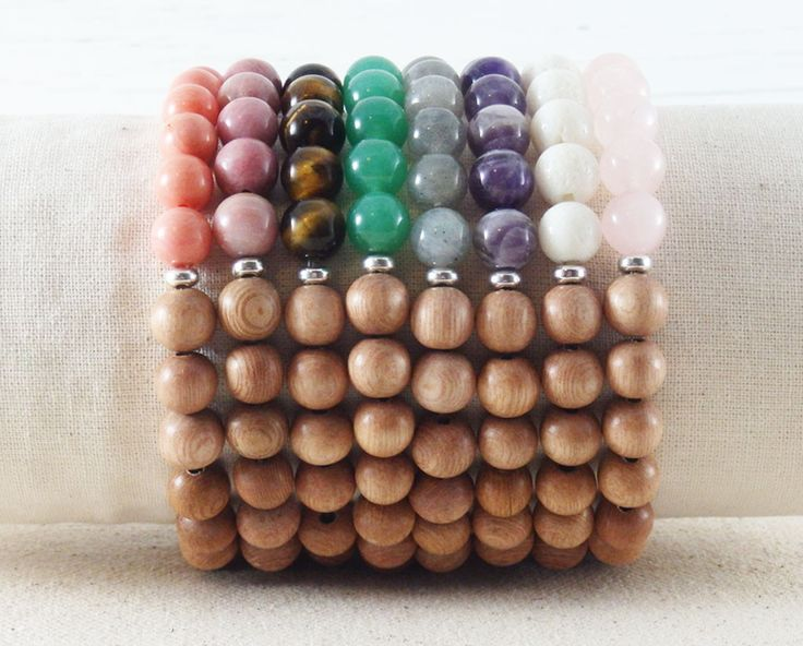 Rosewood Gemstone Bracelet #YogaBracelets #GemstoneBracelets #ArmCandy #Bracelets #HandmadeJewelry #shopifypicks