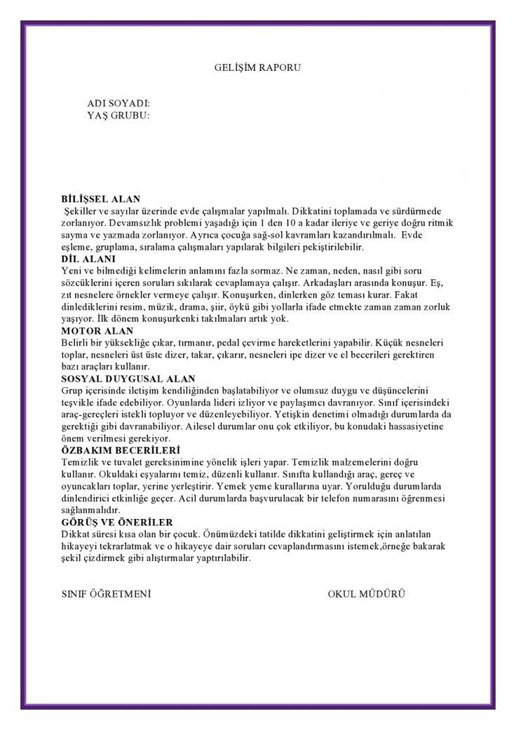 1.Dönem Gelişim Raporu Örneği-3