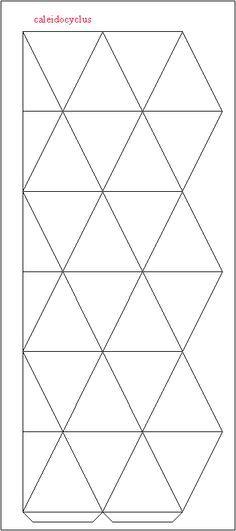 net hexagonal kaleidocycle