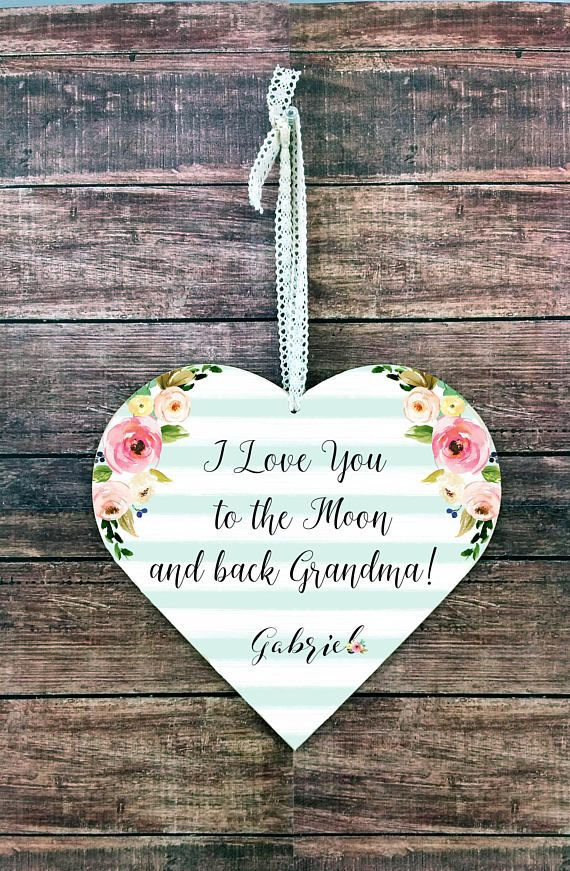 Love You To The Moon Plaque Grandma Signs Gifts For