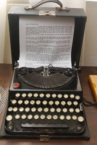 Máquina de escribir Remington usada por la escritora.