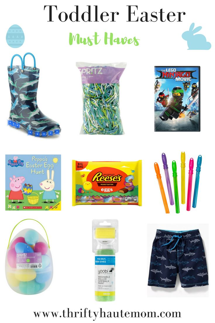 Almost getting ready to put together A's Easter Basket after these boots come in. Since we always toss out the basket afterwards these are the best toddler Easter Basket must haves. | #holidays #Easter #Easterbasket #toddler #giftideas #giftguide