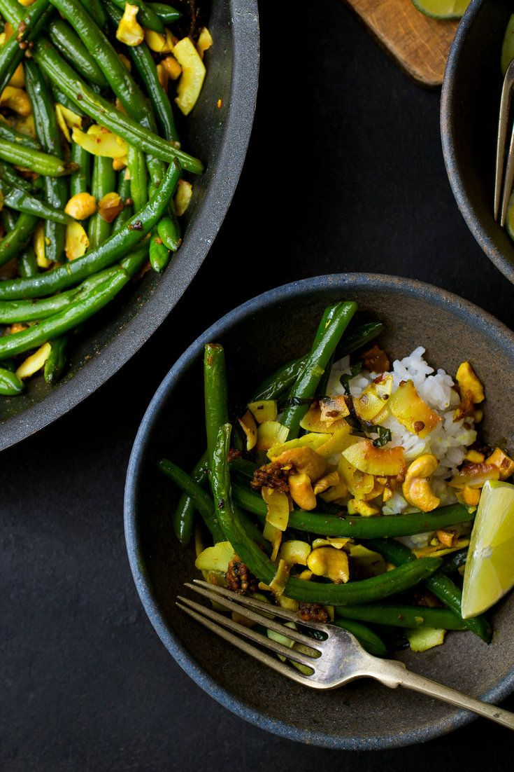 NYT Cooking: This fragrant, deeply flavored green bean dish works as an intense side dish for a simple meal or as a meatless main course in its own right. Take care when adding the mustard seeds to the skillet — they can pop and jump out of the pan as they heat, so stand back. If you can't find large flakes of dried coconut (also sometimes called chips), you can substitut...