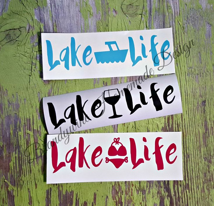 Lake Life Decals, DIY Decals, Lake Decals, Boating Decals, Car Decal, Truck Decal, Nautical Decal, Dock Box Decal, Lake Rat, Lake Summer by BrandywineHD on Etsy