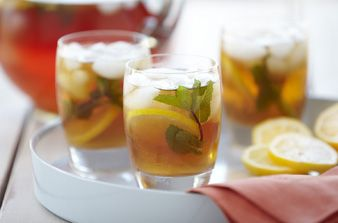 Sweet tea muddled with mint