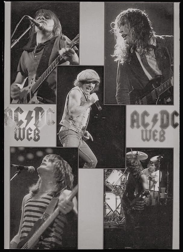 AC/DC 80s⚡️Malcolm y Angus Young, Brian Johnson, Cliff Williams y Simon Wright/ Fly On The Wall Tour