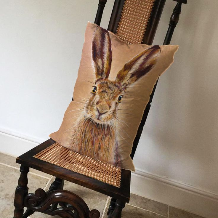 Hare Woodland Animal Head - Long Cushion Covers Pillow Cases Home Inner  | eBay