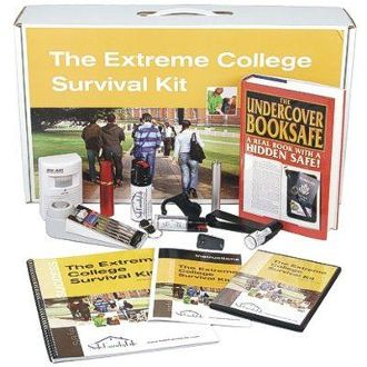 Stay safe at school. Extreme College Survival Kit