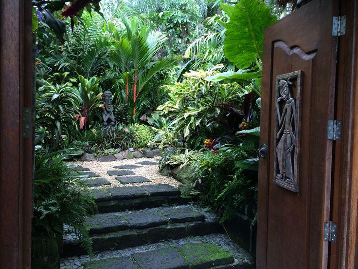 Tropical Garden,tropical path