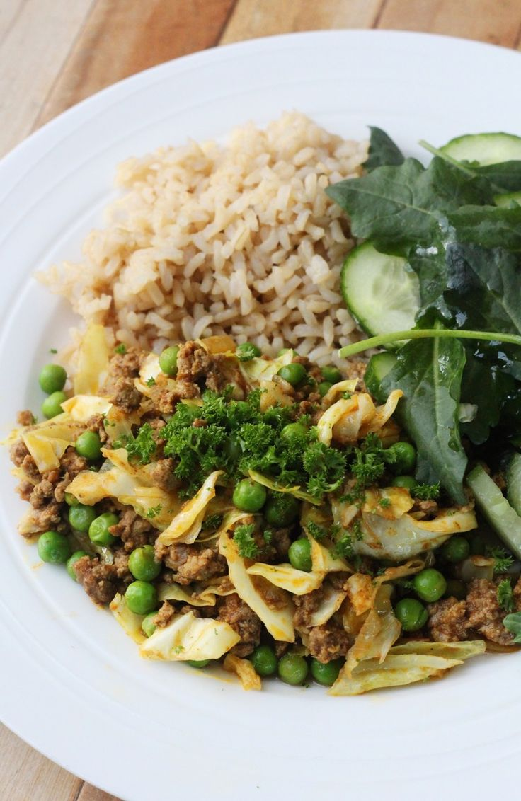 Curried Mince on Rice — Healthy Always