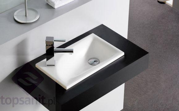 Bathco SOMO umywalka dolomitowa 420x250mm, biała 0546 - Topsanit.pl