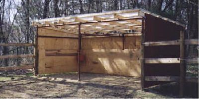 Portable Barn Open Shelter Frame #22 pole barn kit, run in sheds, loafing shed, diy pole barns, diy barn kit, pole barn packages, modular barn, from Klene Pipe Structures