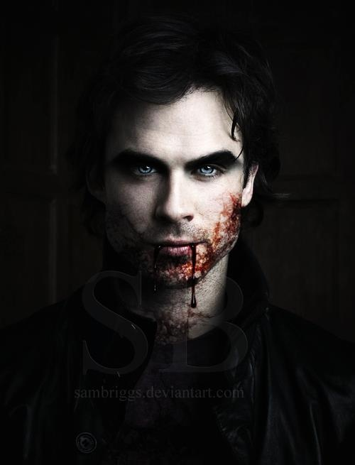 even with blood all over his face... Damon is still SEXY!