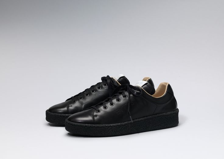 #Eytys Ace Leather in All Black.