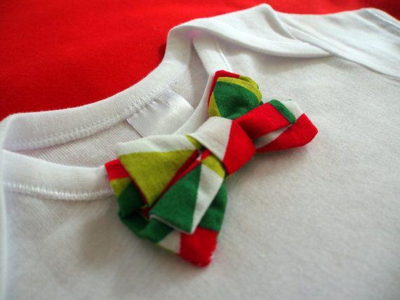 Christmas Bow Tie Onesie by keb4kids on Etsy