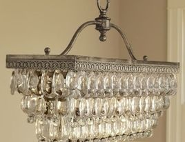 Clarissa Glass Drop Rectangular Chandelier by Pottery Barn - contemporary - chandeliers - Pottery Barn