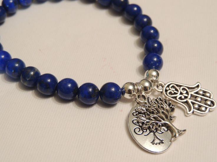 Lapis Lazuli, Powerful gemstone healing charm bracelet