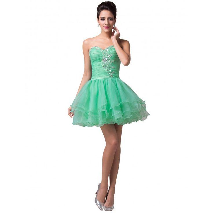 Zelené spoločenské šaty CL6077-3