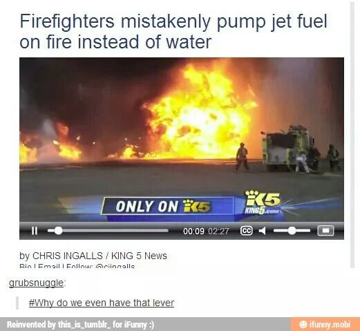 I guess you could say that someone got FIRED<---or that things are HEATING up