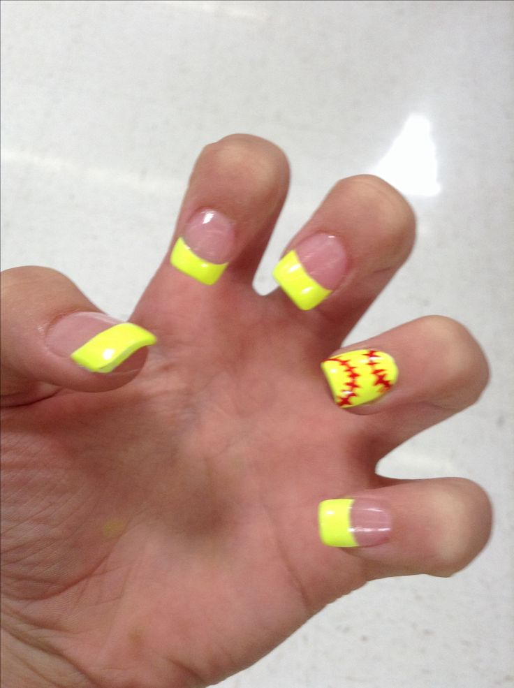 My new softball nails - 25+ Best Softball Nails Ideas On Pinterest Baseball Nail Designs