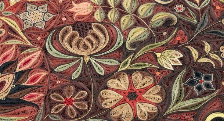 Perzische tapijten van opgerold papier