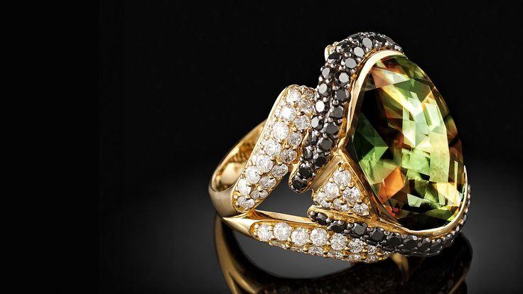 Csarite Diamond RingCsarite Zultanite Bling, Csarite Diamonds
