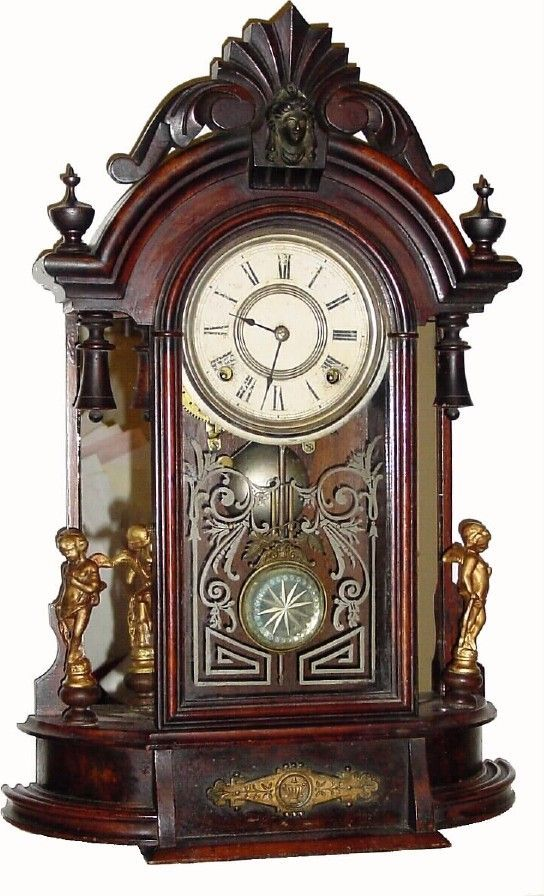 "Antique F Kroeber ""Occidental"" Model Clock"