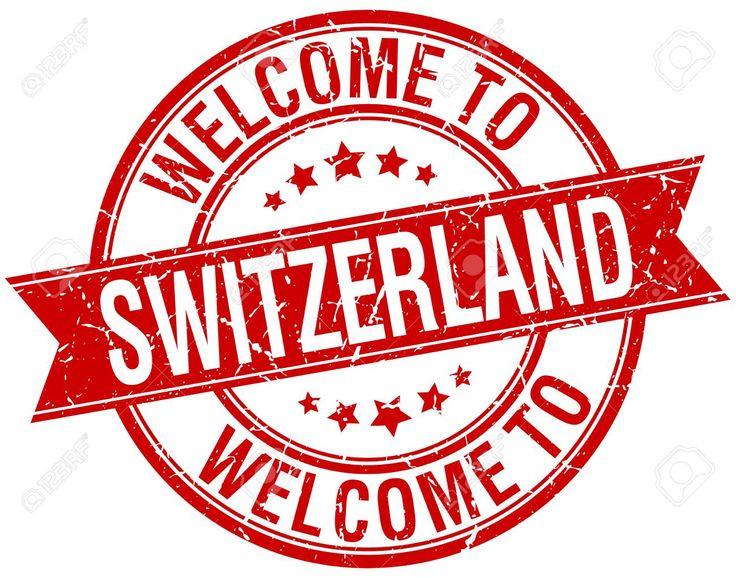 La bienvenida a Suiza. Sello rojo de la cinta redonda Foto de archivo - 40539782 Welcome To Switzerland.