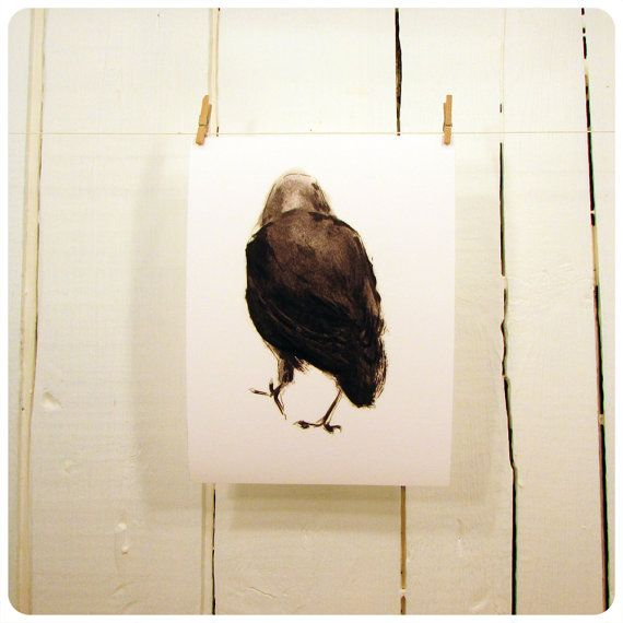 Archival Print - 5 x 7 - The Crow - Bird - Wall Art - Home Decor