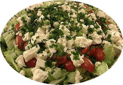 Salade grecque, salade cretoise, Recettes de Grece, plats grecs