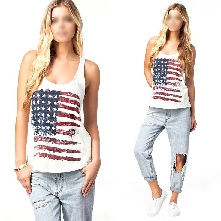 Cheap Tank Tops, Buy Directly from China Suppliers:Occasion: Casual Style: National Flag, America Flag,US Flag Season: Summer Material: Cotton Blend Color: White Size: S/U