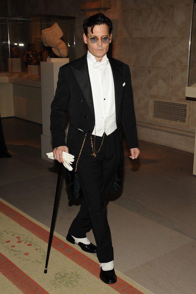 Johnny Depp in Ralph Lauren Purple Label [Photo by Steve Eichner] #MyTailorIsFree #menstyle #gentlemen #classy #business #menstyle #fashion #gq #custommade #menstyle #suit #italian #frenchstyle #fashionformen #menswear #suitandties #bowtie #tie #citymen #smartlook #outfit #glamour #tuxedo #redcarpet
