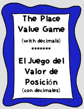 Bilingual place value game with decimals